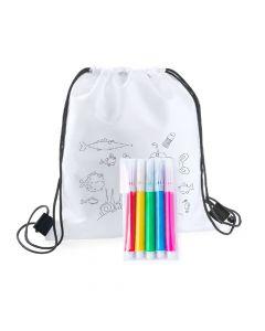 BACKYS - colouring drawstring bag