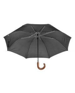 STANSED - folding umbrella with wooden handle