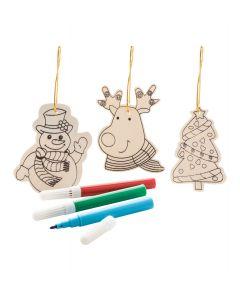 ANDOYA - colouring Christmas tree ornaments, 3 pcs