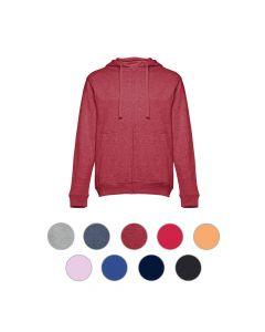 THC AMSTERDAM - Men's hooded full zipped sweatshirt