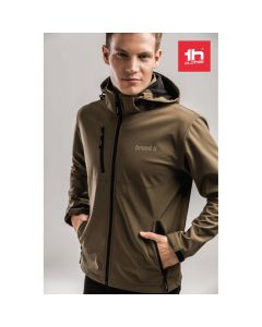 THC ZAGREB - Men's softshell with removable hood