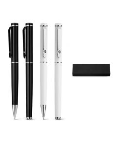 CALIOPE SET - Roller pen and ball pen set in metal