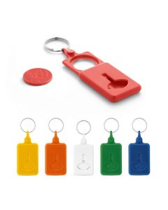 BUS - Coin-shaped keyring for supermarket trolley